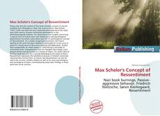 Couverture de Max Scheler's Concept of Ressentiment