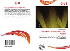 Copertina di Krystyna Moszumanska-Nazar