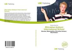 Buchcover von Dhirubhai Ambani International School