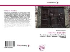 Обложка Henry of Flanders