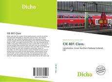 Bookcover of CIE 801 Class