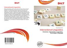 Couverture de Interactional Linguistics