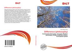 Bookcover of Difference (philosophy)