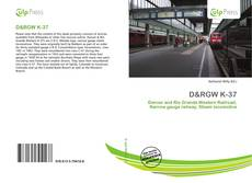 Bookcover of D&RGW K-37