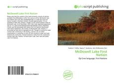 Portada del libro de McDowell Lake First Nation