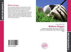 Buchcover von Mathew Goggin