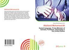Capa do livro de Abdiweli Mohamed Ali