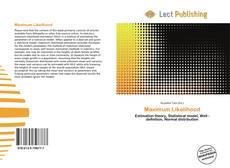 Bookcover of Maximum Likelihood