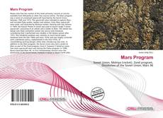 Bookcover of Mars Program