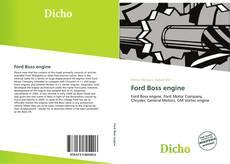 Portada del libro de Ford Boss engine