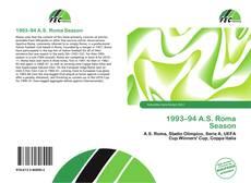 Bookcover of 1993–94 A.S. Roma Season