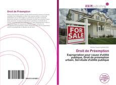 Bookcover of Droit de Préemption