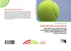 2009 AEGON International的封面