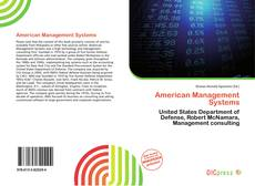 Bookcover of American Management Systems