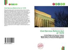 Civil Service Reform Act of 1978 kitap kapağı