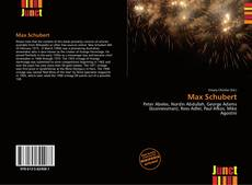 Couverture de Max Schubert