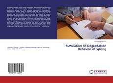 Simulation of Degradation Behavior of Spring kitap kapağı
