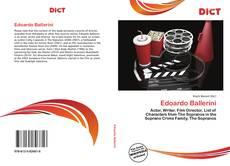 Bookcover of Edoardo Ballerini