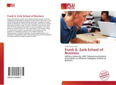 Bookcover of Frank G. Zarb School of Business