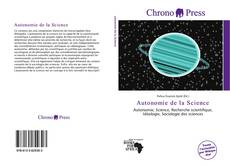 Couverture de Autonomie de la Science