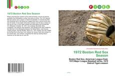 1972 Boston Red Sox Season kitap kapağı