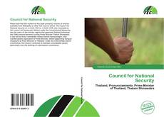 Bookcover of Council for National Security