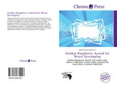 Bookcover of Golden Raspberry Award for Worst Screenplay