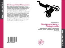 Elite League Riders' Championship kitap kapağı