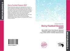 Bookcover of Derry Football Season 2007