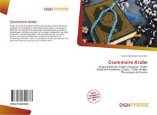 Bookcover of Grammaire Arabe