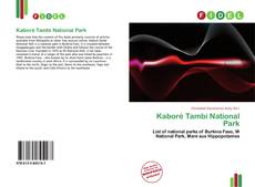 Bookcover of Kaboré Tambi National Park
