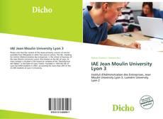 IAE Jean Moulin University Lyon 3 kitap kapağı