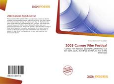 Bookcover of 2003 Cannes Film Festival