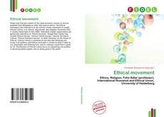 Portada del libro de Ethical movement