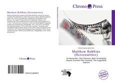 Обложка Matthew Robbins (Screenwriter)