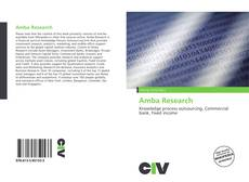 Bookcover of Amba Research