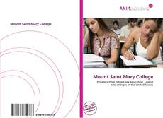 Bookcover of Mount Saint Mary College