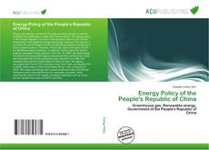 Bookcover of Energy Policy of the People's Republic of China