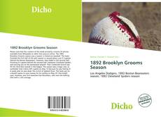 Bookcover of 1892 Brooklyn Grooms Season