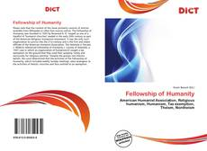 Bookcover of Fellowship of Humanity