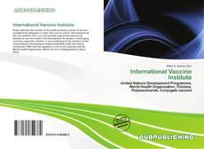 International Vaccine Institute的封面