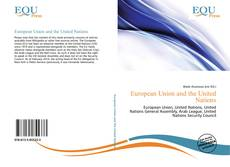 Bookcover of European Union and the United Nations