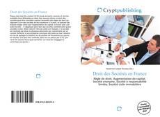Bookcover of Droit des Sociétés en France