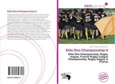 Couverture de Elite One Championship II