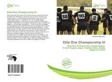 Elite One Championship III的封面