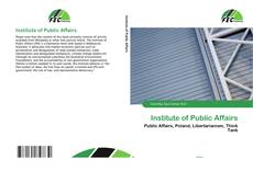 Bookcover of Institute of Public Affairs