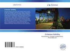 Bookcover of Criterion Validity