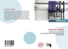 Bookcover of Content Validity