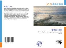 Fokker F.VIII kitap kapağı