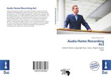 Bookcover of Audio Home Recording Act